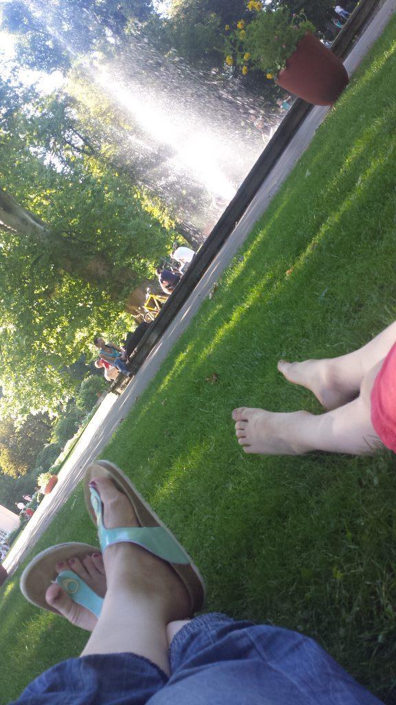 Ausruhen im Park