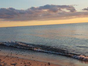 Abendlicht, Strand Dierhagen