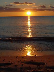 Sonnenuntergang Dierhagen, Darß am Strand