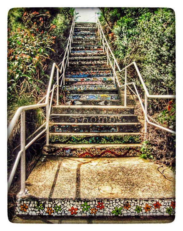 Mosaik Treppe - Sydney - mitFilter, #filter