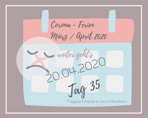 Liebes Corona-Ferientagebuch – Tag 35 bis bald