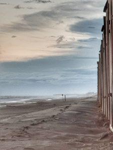 der Sturm kommt auf - Wetter am Strand ganz nah - Julianadorp aan Zee, mit Filter